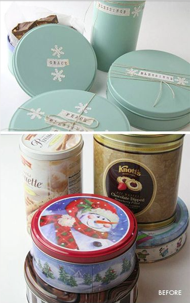 Upcycled old tins
